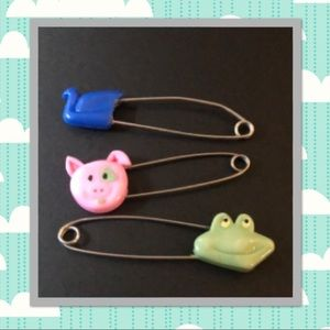 Vintage Baby Cloth Diaper Safety Pins!